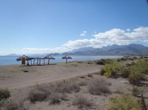 The first developed beach south of Loreto is La Salinita