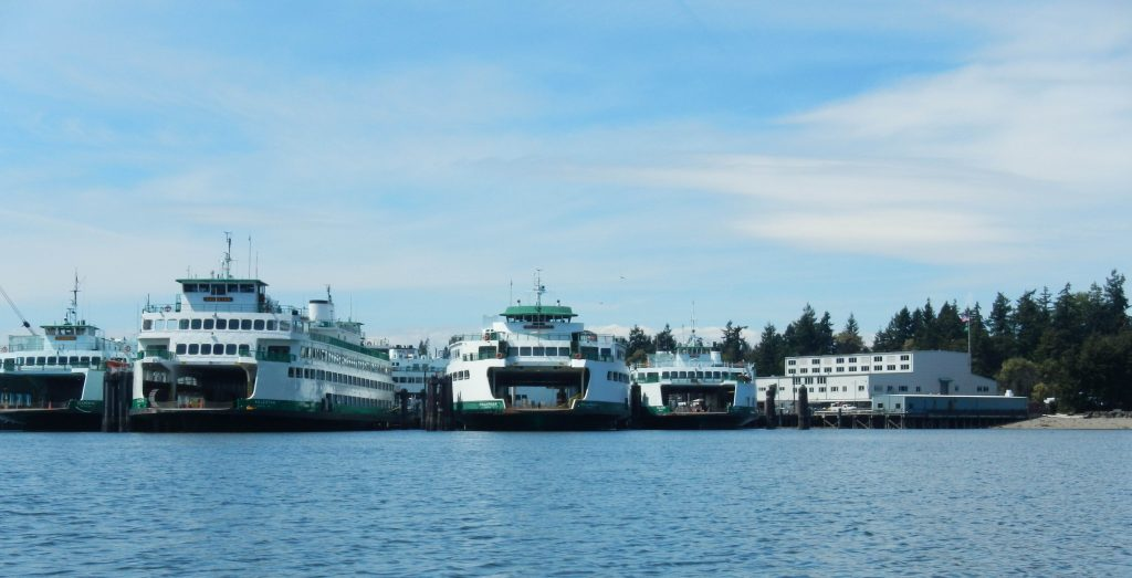 Washington State Ferries at rest