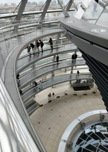 A picture from near the top of the Reichstag dome.